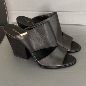 Calvin Klein leather sandals